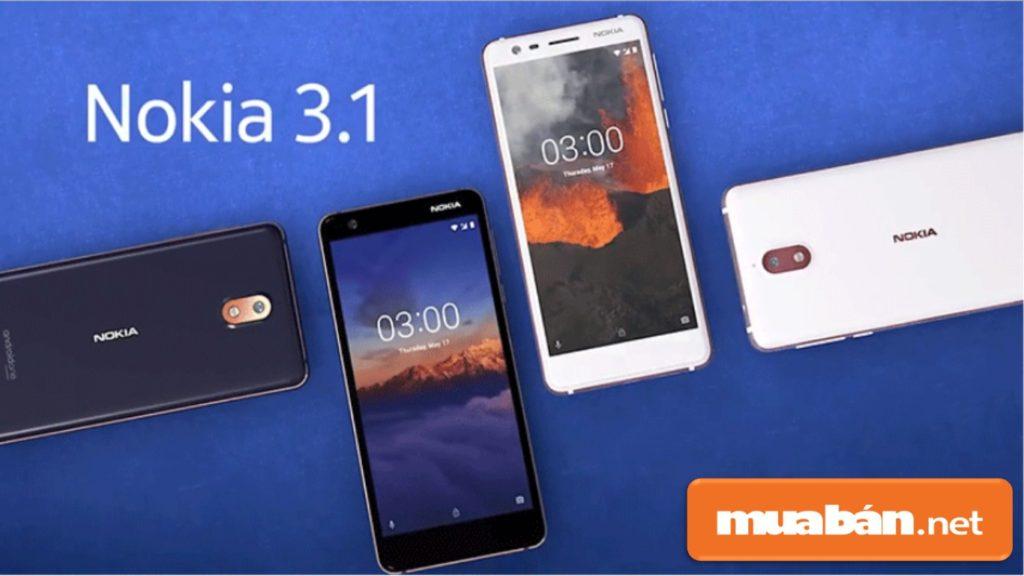 Nokia 3.1 cũng được nhiều người lựa chọn với tầm giá 2.890.000VNĐ --> 3.290.000VNĐ