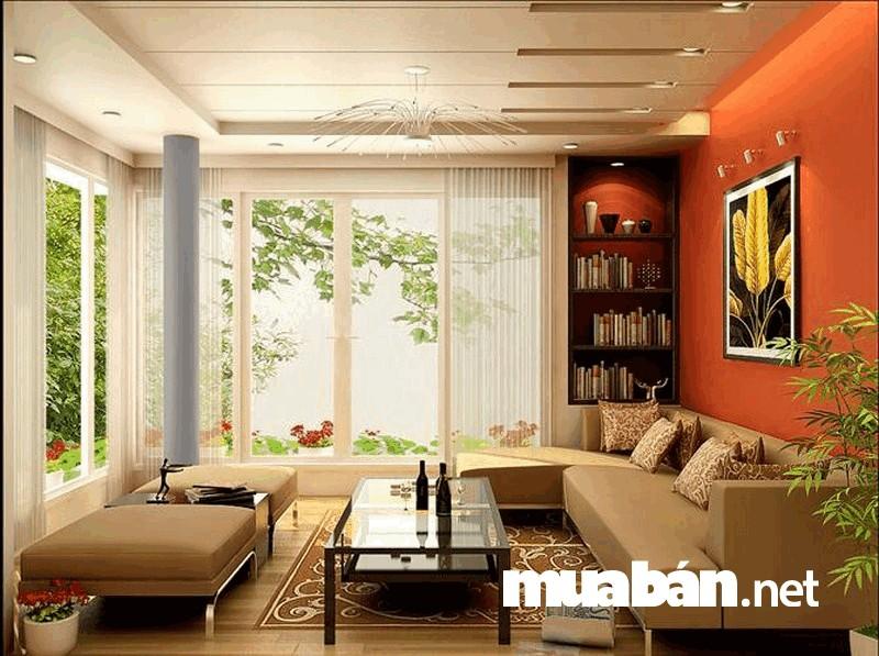 Màu sắc kết hợp hài hòa của nội thất sẽ giúp không gian phòng khách ấm cúng, nhẹ nhàng