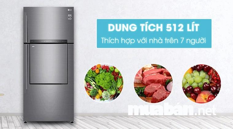 Lựa chọn dung tích tủ lạnh theo số lượng người sử dụng trong gia đình