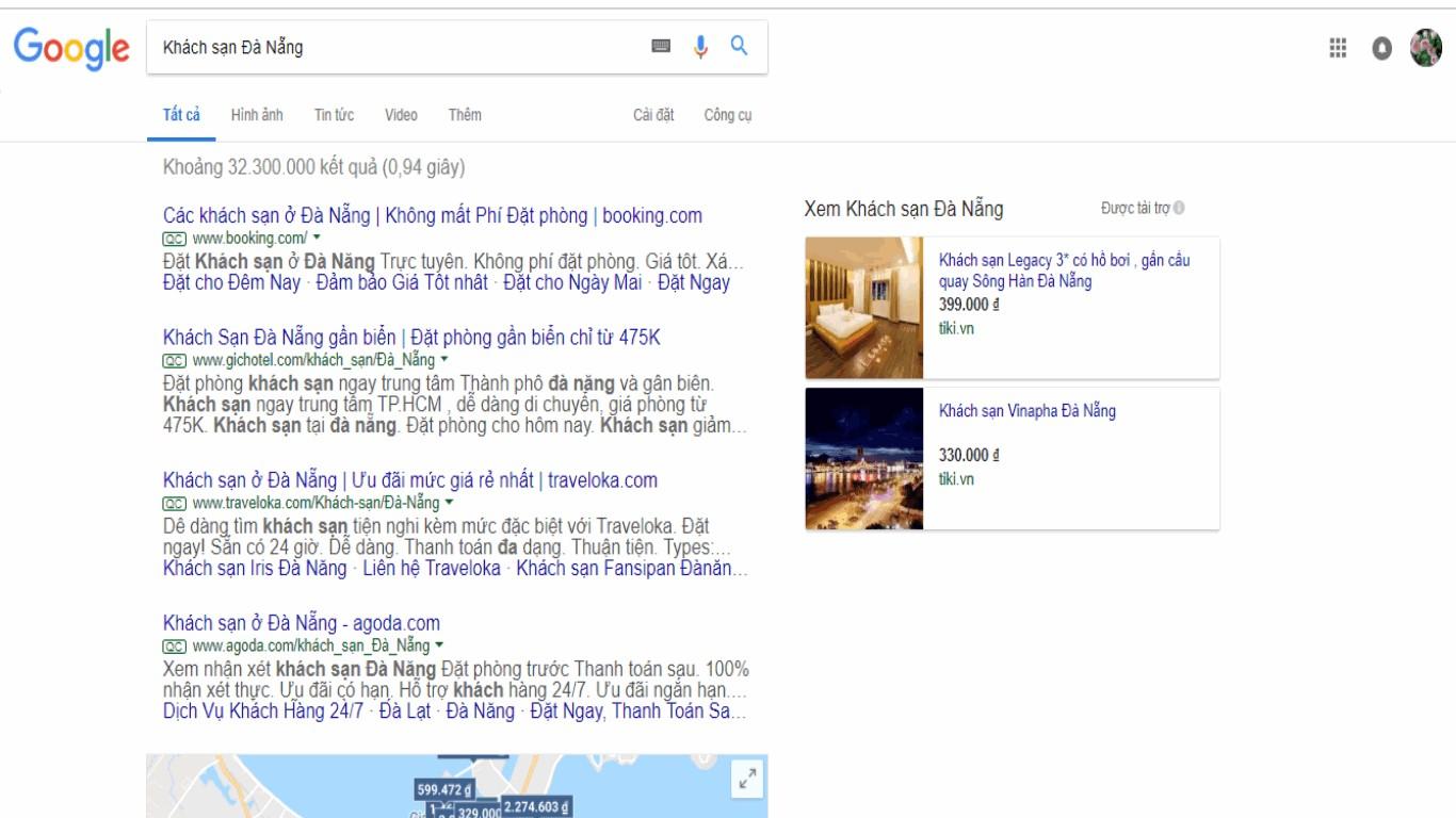 Tìm kiếm thông tin khách sạn Đà Nẵng trên internet