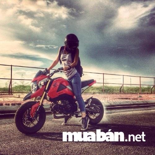 Honda MSX 125cc 2017 là mẫu mô tô lý tưởng cho nữ giới.