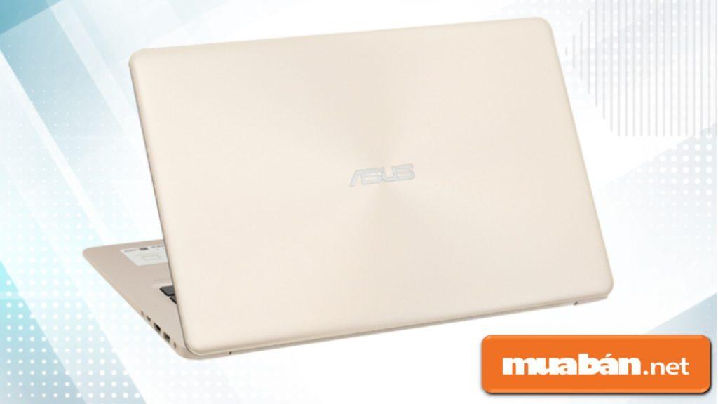 Laptop cũ Asus A510Ua i3 8130U khá đơn giản, chất liệu vỏ nhựa nhưng khá cứng và bền.