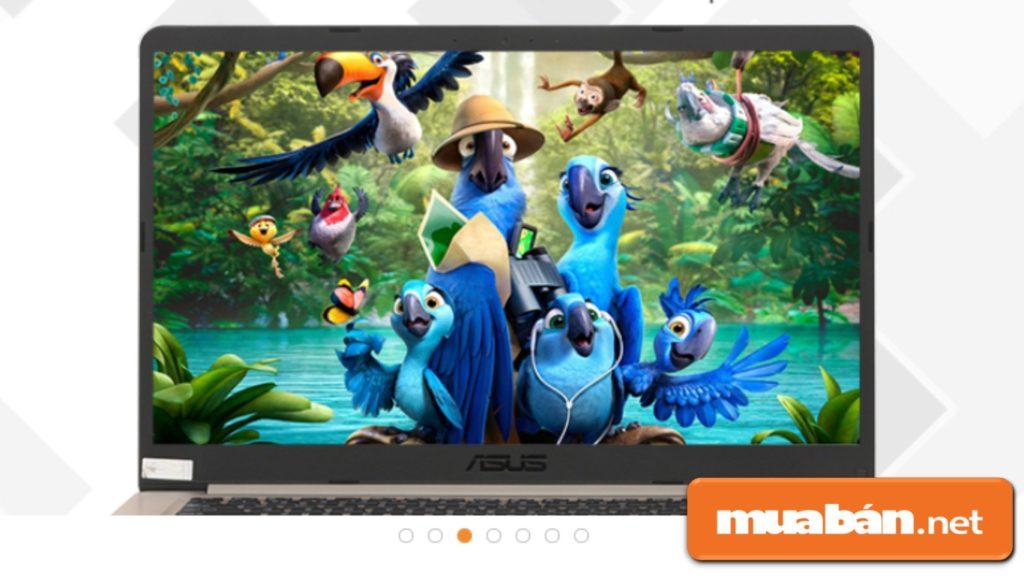 Laptop cũ Asus A510Ua i3 8130U có màn hình vừa phải với kích thước 14inch.