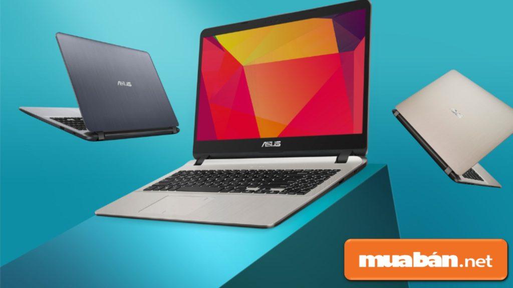 Asus Vivobook X507MA thiết kế đơn giản, sang trọng.