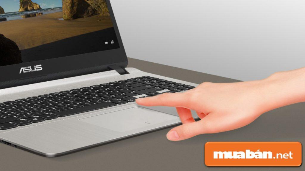 Asus Vivobook X507MA có khả năng nhận diện bằng cảm biến vân tay.