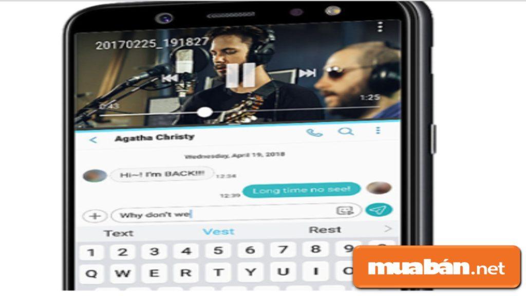 Tính năng App Air trên Galaxy A6.