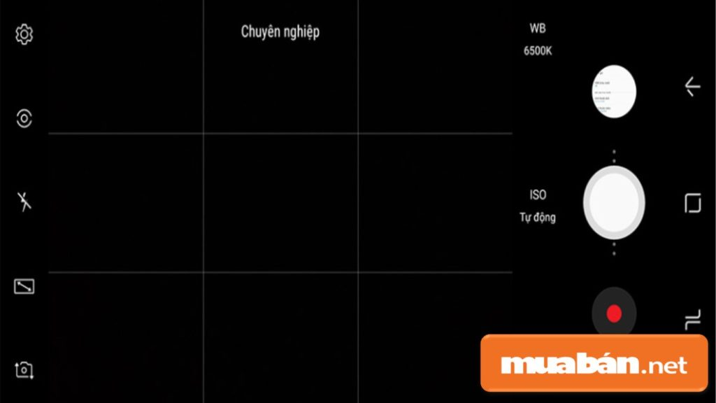 điện thoại Samsung A8 chỉ cho người dùng chỉnh tay 3 thông số nên không thể phơi sáng lâu.