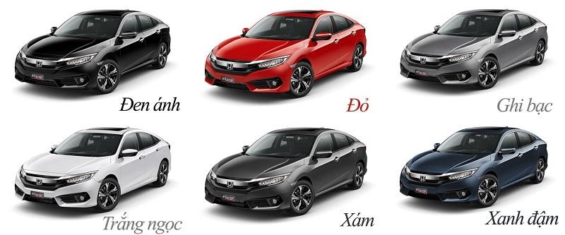 Giá xe Honda Civic tháng 11/2018 không thay đổi so với tháng 10/2018.