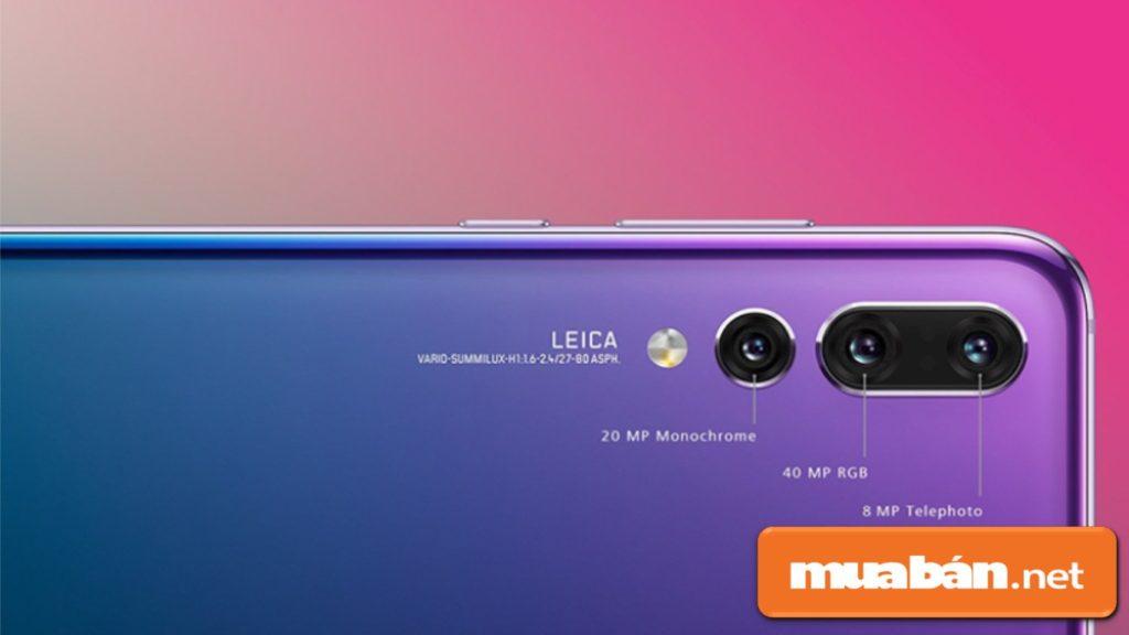 Điều đặc biệt nhất của Huawei là sở hữu 3 camera kép ở mặt sau.