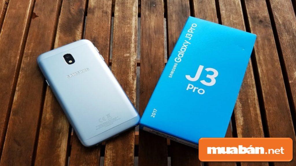 Galaxy J3 Pro được thiết kế nguyên khối với chất liệu kim loại sang trọng.