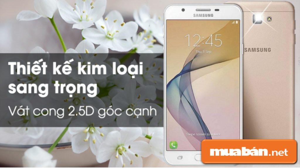 Thiết kế của Samsung Galaxy J7 prime khá đẹp, sang trọng.