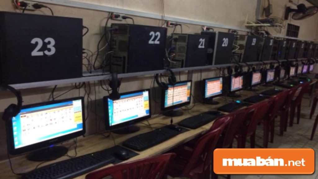 Máy tính cũ được thanh lý từ các phòng Game, quán Net.