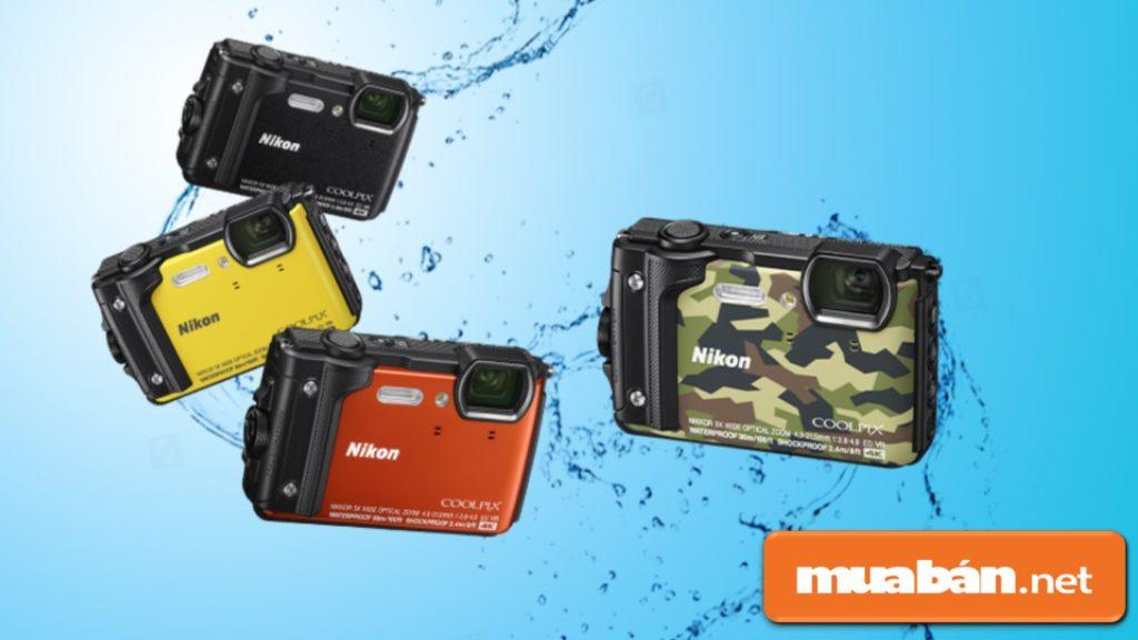 Nikon Coolpix W300 trông khá nổi bật và trẻ trung với những màu sắc hiện đại.