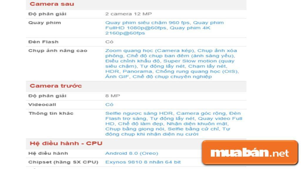Phần mềm hỗ trợ trên điện thoại Samsung Galaxy S9 Plus.