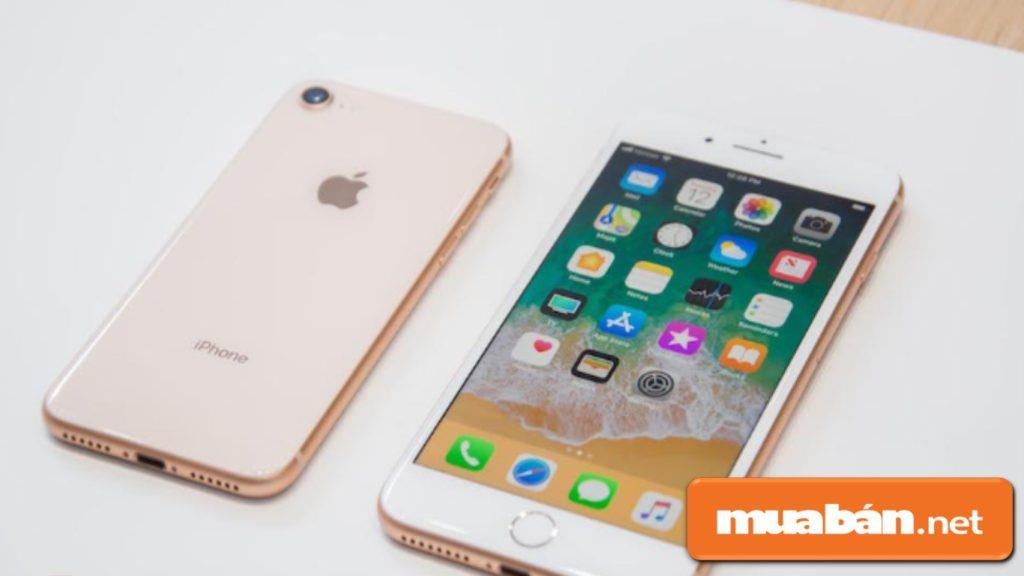Thiết kế của IPhone 8 không có gì quá nổi bật so với IPhone 7, ngoại trừ chất liệu kính ở mặt lưng.
