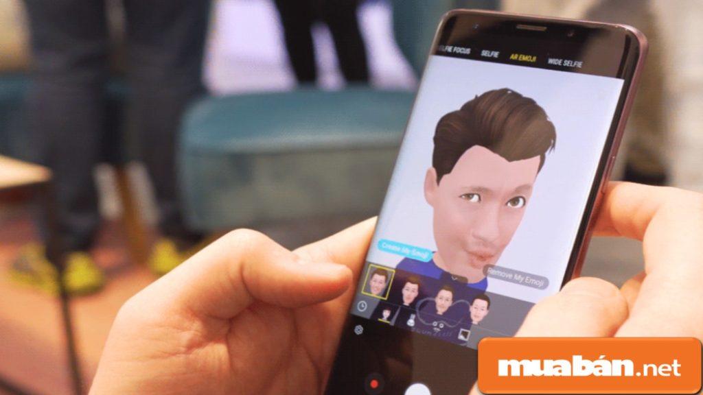 Galaxy S9+ được hỗ trợ tạo biểu tượng cảm xúc từ hình ảnh của bạn.