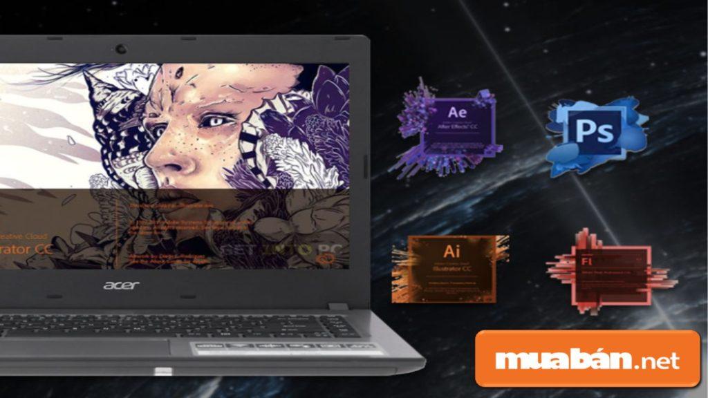 Acer Aspire E5 được sở hữu vi xử lý Intel Core i3 Kabylake Refresh cho hiệu năng ổn định.