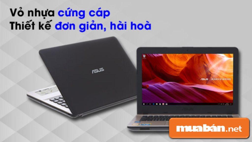 Asus X441MA N N5000 có thiết kế khá nhỏ gọn, và đơn giản.