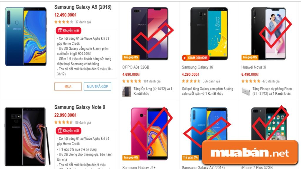 Một số sản phẩm điện thoại có hỗ trợ trả góp 0% trên website của thegioididong cho khách hàng tham khảo.