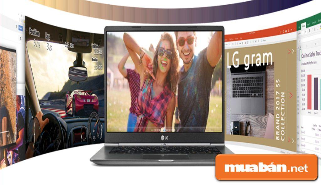 Gram Z970-G được LG đầu tư với bộ vi xử lý Intel Core i5-7200U, tốc độ CPU 2.5GHz, giúp máy chạy đa nhiệm khá tốt.