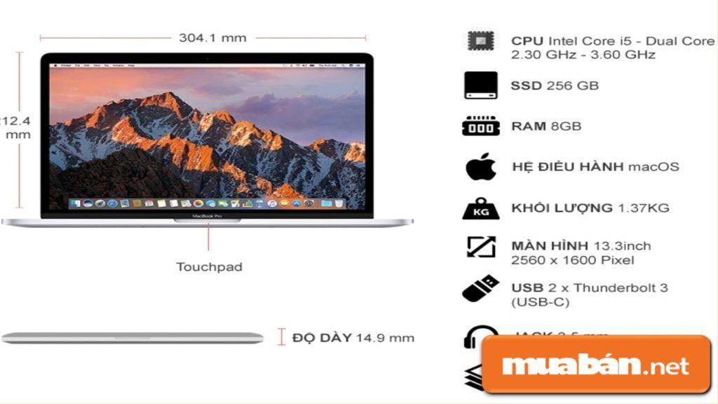 Cấu hình của Macbook Pro 2017 xứng đáng nằm trong top những laptop tốt nhất hiện nay.