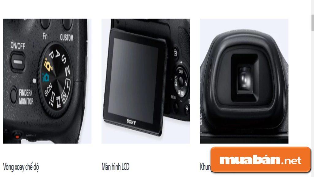 Các nút điều khiển được Sony thiết kế để bạn dễ dàng sử dụng các chế độ trên máy một cách dễ dàng.