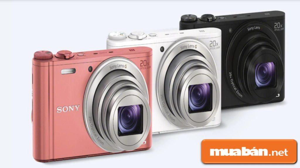 Máy ảnh Sony WX350 có 3 màu: hồng phấn, trắng bạc, và đen.