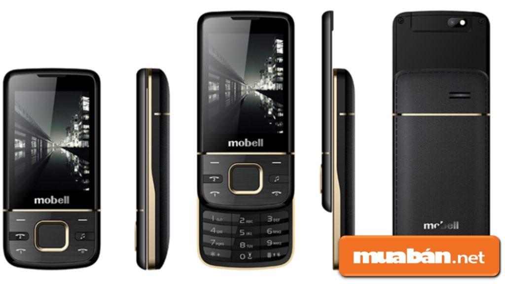 """Mobell M889 được thiết kế nắp trượt khá độc đáo với phong cách """"xưa huyền thoại""""."""