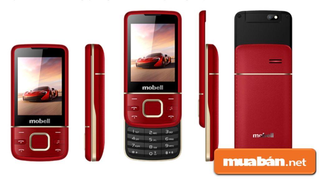 Mobell M889 có màn hình kích thước 2.4 inch giúp hình ảnh và nội dung hiển thị rõ nét.