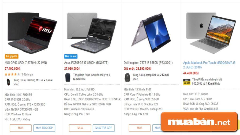 """Một số mẫu laptop cao cấp với giá 20 triệu trở lên, dành cho """"hội sinh viên nhà giàu"""""""