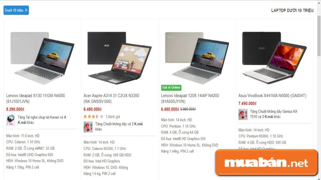 Một Số Mẫu Laptop Ở Phân Khúc Phổ Thông Vẫn Đáp Ứng Đầy Đủ Các Yêu Cầu Cơ Bản.