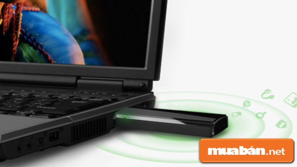 USB thu sóng wifi để giúp thiết bị kết nối mạng từ thiết bị khác.