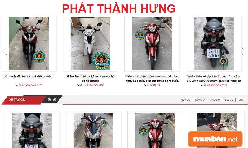 Thêm một nơi bán xe máy cũ uy tín TPHCM nữa đó chính là Phát Thành Hưng.