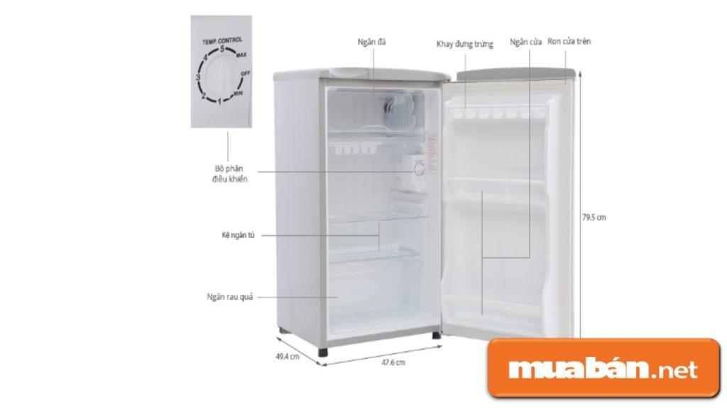 Công suất tủ lạnh mini nhỏ nên một số tính năng cao cấp bị thu hẹp lại nhằm đáp ứng được giá thành rẻ.