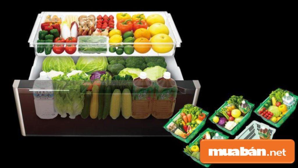 Công nghệ kháng khuẩn khử mùi trên tủ lạnh Hitachi khá tốt, đảm bảo thực phẩm tươi lâu, chất lượng.