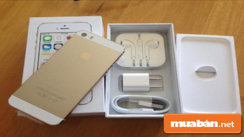 Iphone hàng dựng còn được trang bị tận răng đầy đủ, fullbox như hàng chính hãng.
