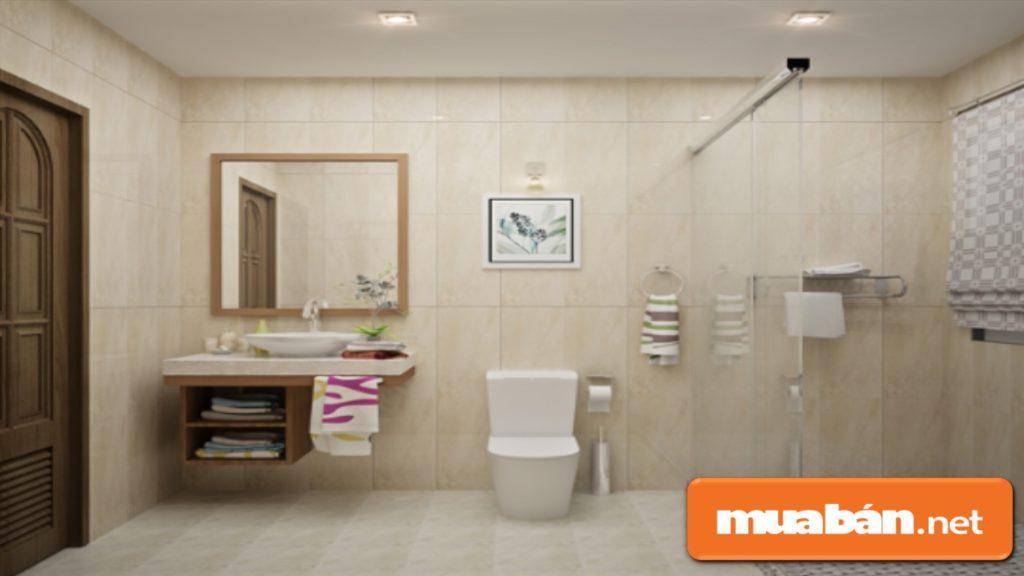 Nhà vệ sinh phải luôn được khô ráo, sạch sẽ, nếu không dễ tích tụ âm khí gây bất lợi cho sức khỏe.
