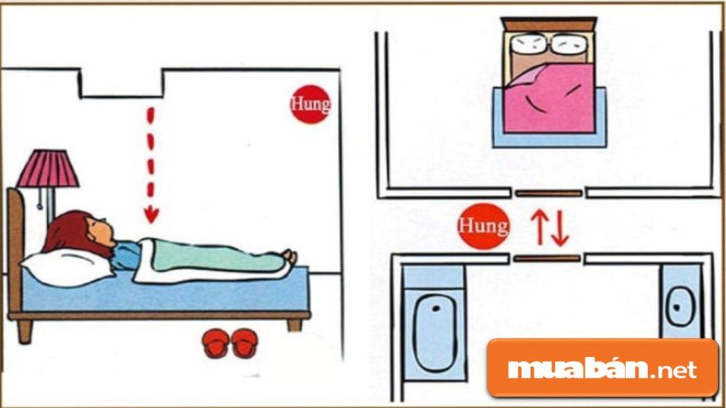 Không Nên Thiết Kế Cửa Nhà Vệ Sinh Đối Diện Với Cửa Phòng Ngủ - Đây Là Lỗi Phong Thủy Khá Lớn.