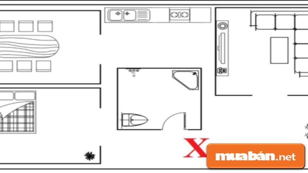 Nhà vệ sinh tránh đặt ở vị trí trung tâm nhà, gây ảnh hưởng đến toàn bộ phong thủy nhà ở.