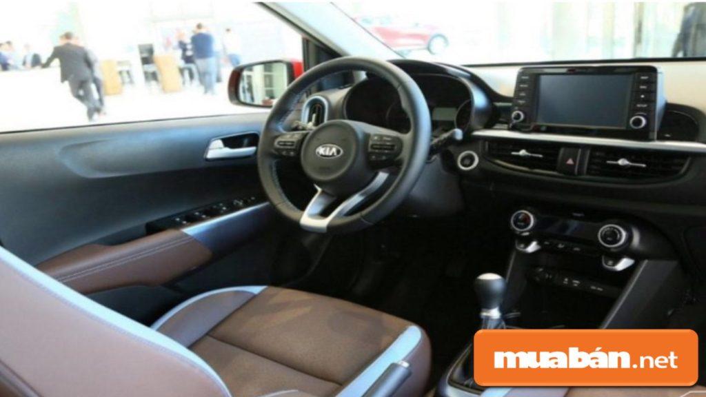 Không gian nội thất trong xe Kia Morning 2019.