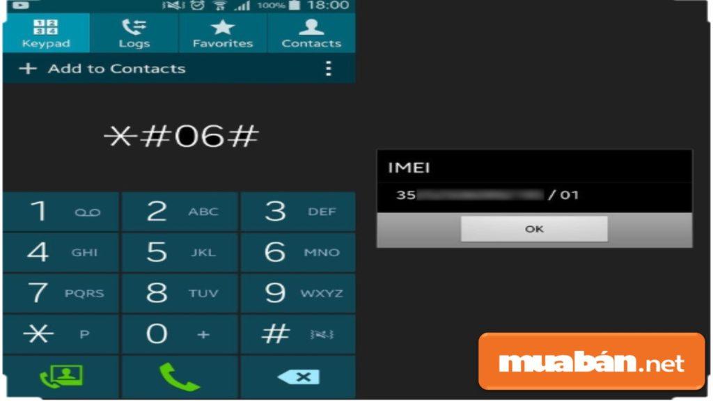 Bạn bấm *#06#, sau đó kiểm tra trong Cài đặt (Setting) trên máy xem IMEI có khớp không.