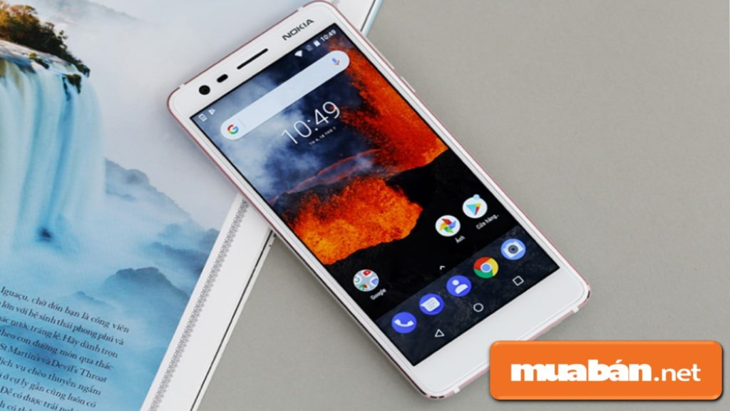 Nokia 3.1 thiết kế nhôm phối hợp với chất liệu nhựa và nhôm trông khá đẹp mắt.