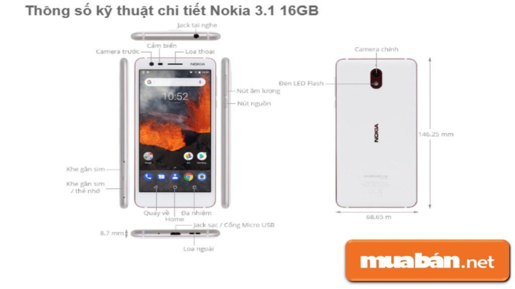 Nokia 3.1 có cấu hình khá ổn với phân khúc giá rẻ.