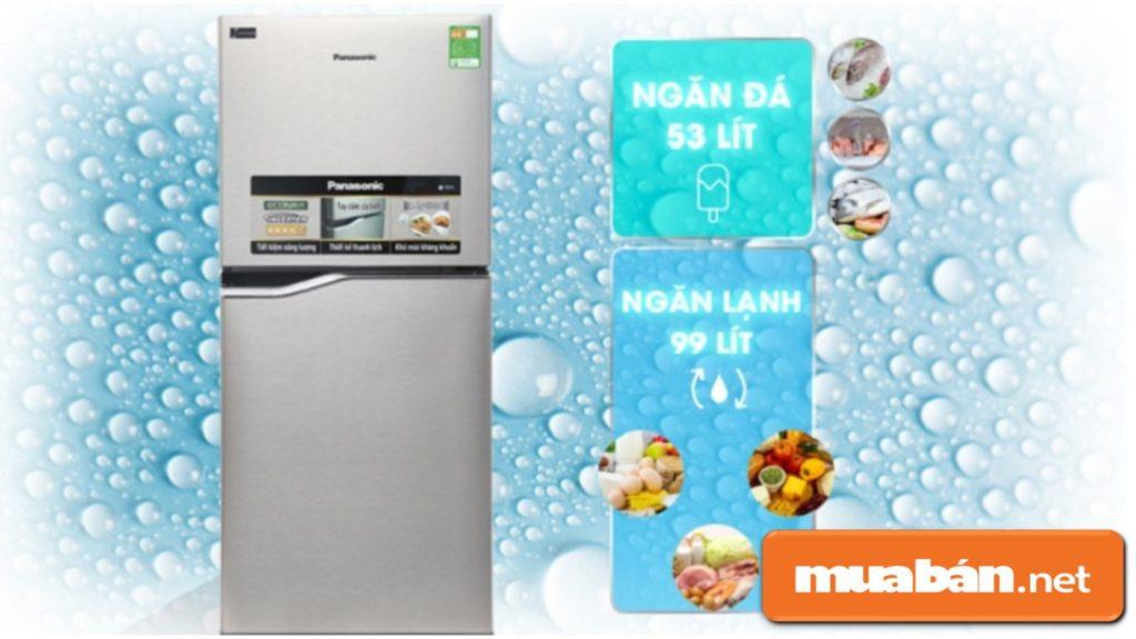 Tủ lạnh có dung tích 152 lít thích hợp sử dụng cho khoảng từ 2-3 người.