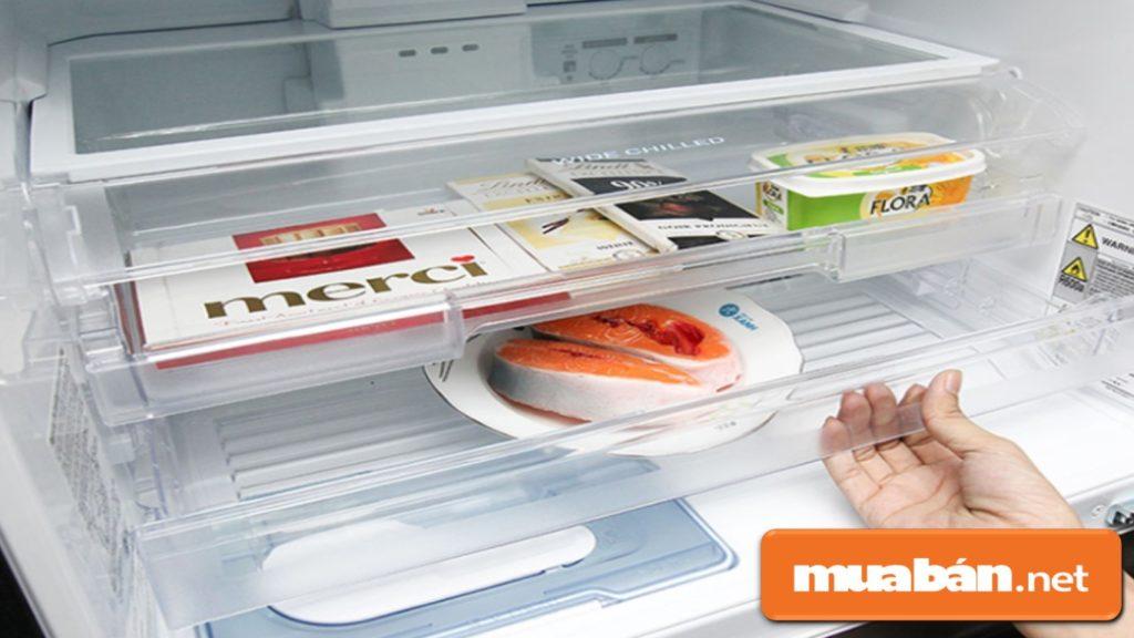 Thiết kế đặt ngăn đá bên dưới sẽ giúp tủ lạnh tiết kiệm điện năng hơn.