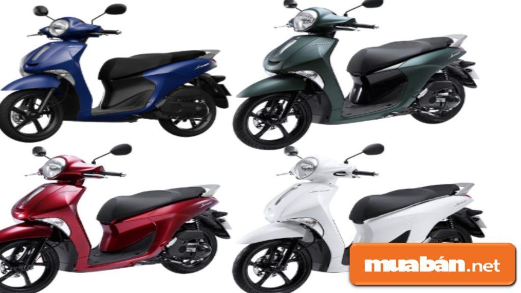 Các màu xe hiện có của Yamaha Janus 2019.