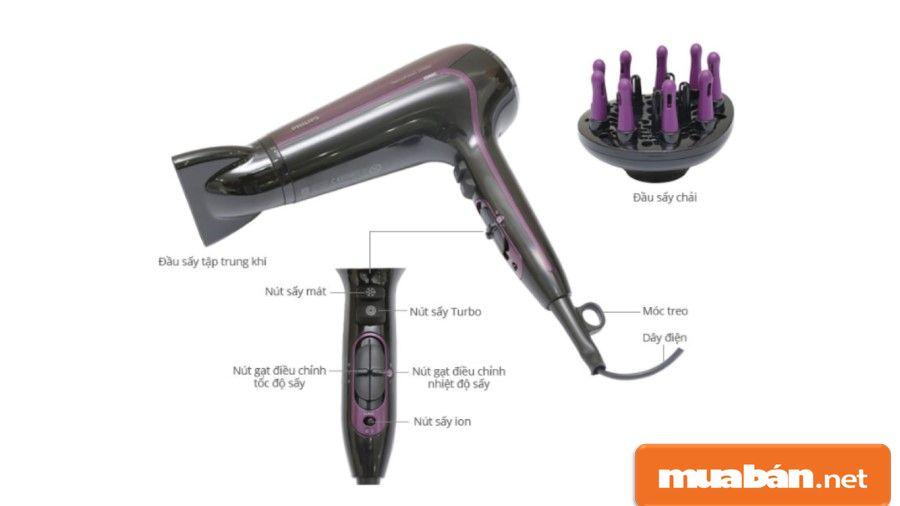 Mua máy sấy tóc sấy ion giúp tóc bạn nhanh khô hơn nhưng vẫn giữ được độ ẩm cho tóc.