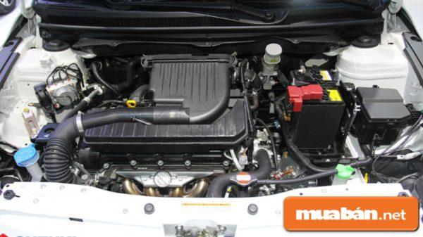 Suzuki Ciaz có động cơ 1,4 lít với hệ thống phun xăng đa điểm tiết kiệm nguyên liệu.