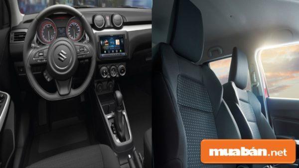 Nội thất Suzuki Swift được thiết kế hiện đại, sang trọng với nhiều tính năng mới.