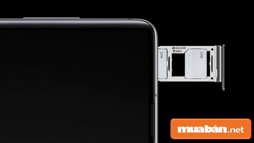 Samsung Galaxy S10 hỗ trợ người dùng sử dụng 2 sim 2 sóng.
